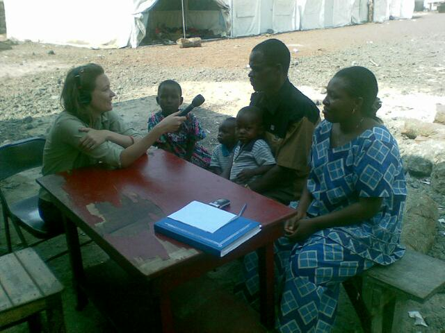 Interviewing a recently demobilized FDLR soldier in Goma