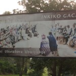 Billboard advertising the Gacaca courts