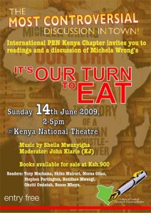 Poster advertsing book event at Kenya National Theatre