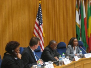 A panel discussion organized by the US Mission to the AU